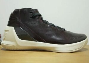 new style f0ec5 69d51 Details about Under Armour Men's UA Curry 3 Lux Limited Edition Shoes - Sz  12 Oxblood Leather