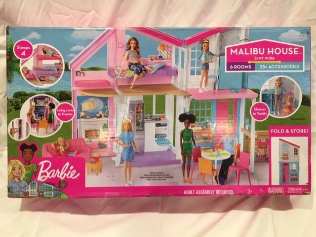 Barbie Malibu Dollhouse House Playset FXG57 NIPB