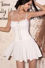 Robe gothique lolita patineuse laçage corset fashion tendance fluffy dress Blan