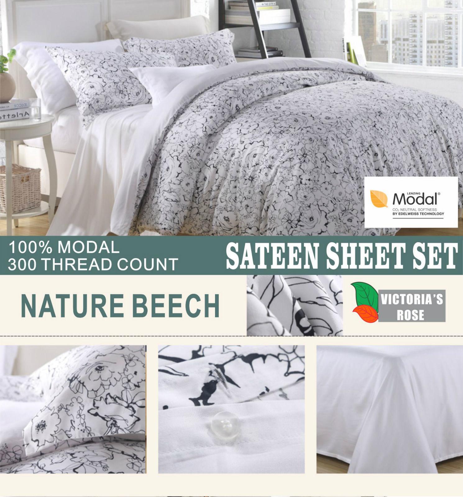Best Quality 4pc Bed Sheet Set Premium Brand Nature Beech 100% Modal Sateen NEW
