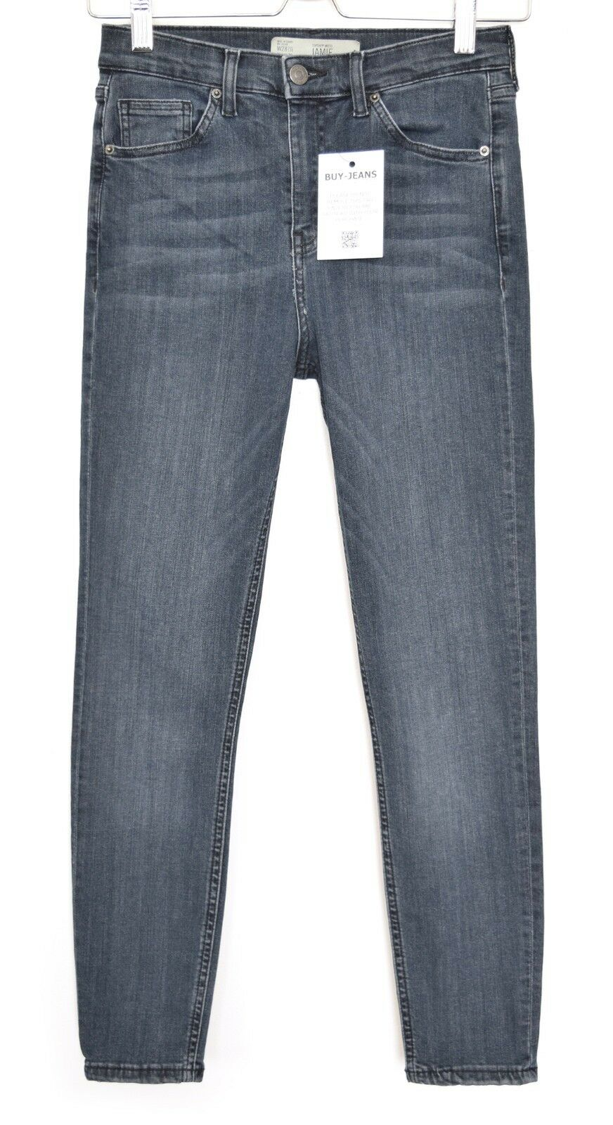 Topshop SUPER SKINNY JAMIE High Waist bluee Ankle Stretch Jeans Size 10 W28 L30