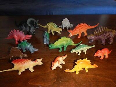 In Lot Of 15 Dinosaurs Toy Plastic Model Dimetrodon Triceratops Ankylosaur & More Fashionable Style;