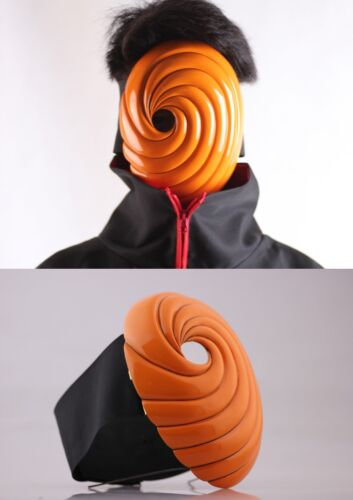 Stylish Naruto Shippuden Tobi Anime Cosplay Costume Mask Fiberglass Wide Band