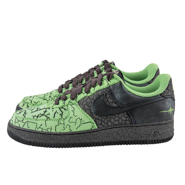 new concept 5a88e 5fbb7 free shipping NEW NIKE AIR FORCE 1 315206-301 SZ 11 HUFQUAKE RADIANT GREEN  BLACK