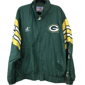 Vintage-NFL-ProLine-Green-Bay-Packers-Men-Jacket-Logo-Athletic-Windbreaker-Sz-XL