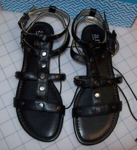 7e90d4fd65 WOMENS A.N.A. ZADIE FLATS BLACK SANDALS SIZE 6.5 NEW IN BOX MSRP ...