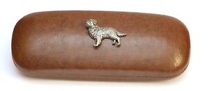 Golden Retriever Leather Effect PU Glasses  Case Hunting shooting Gift Present