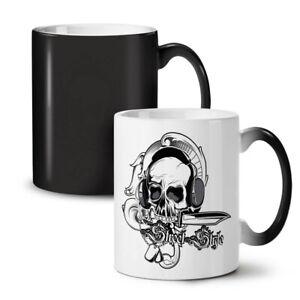 Music Headphones Skull NEW Colour Changing Tea Coffee Mug 11 oz | Wellcoda