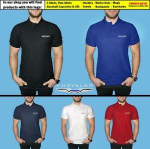 Chrysler-Polo-T-Shirt-COTTON-EMBROIDERED-Auto-Car-Logo-Tee-Mens-Clothing-Gift