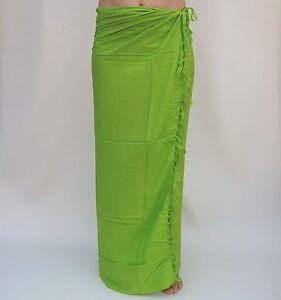 new unisex premium quality plain one colour sarong pareo lime green