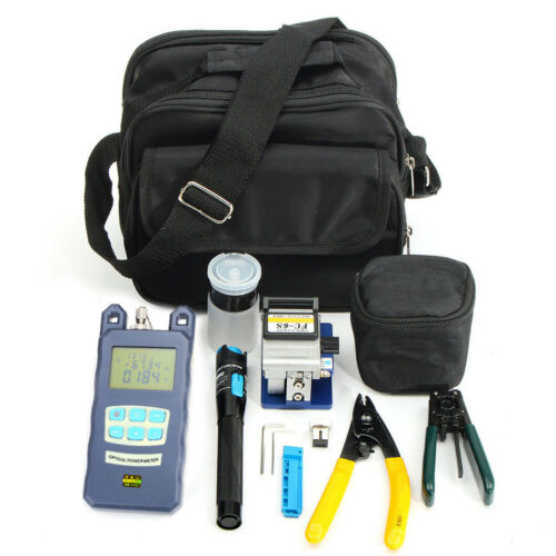 FTTH Optic Tool Kit w//FC-6S Fiber Cleaver//Power Meter//Stripper//Fault Locator Neu