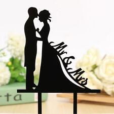 MR & MRS Bride Groom Couple Wedding Shower Cake Topper Decoration Party Favor