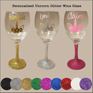Personalised-Glitter-Unicorn-Wine-Glass-birthday-day-present-christmas-gift