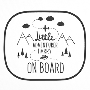 Personalised Little Adventurer Car Sun Shade Kids Toddler Children/'s Sun Screen