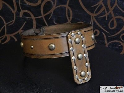 LARP Gladiator//Barbarian//Viking heavy triple belt with removable belts
