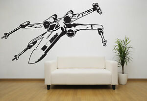 Star Wars X Wing Vinyl Wall Decal, Room Decor, Removable Starwars Sticker Space