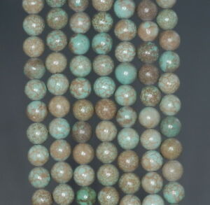 3MM BOULDER CREEK TURQUOISE GEMSTONE ROUND LOOSE BEADS 16/""