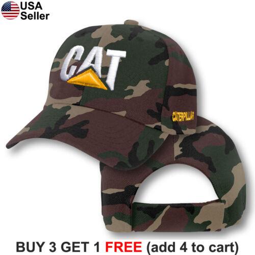Caterpillar Cap CAT Construction Logo Hat Embroidered Tractor Trucker Equipment