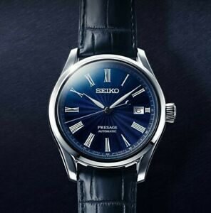 Seiko-Limited-Edition-Presage-Mens-Watch-Shippo-Enamel-Men-039-s-Watch-SPB075J1