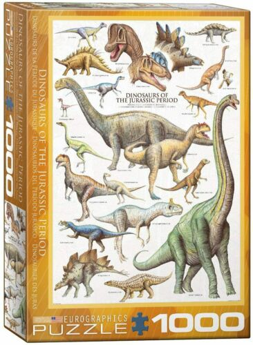 Dinosaurs of the Jurassic Period Eurographics 1000 Piece Jigsaw Puzzle
