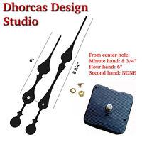 (01) Quartz Clock Movement Kit 1/4 Threaded High Torque Motor & Long 9 Hand