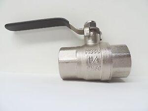 "NEW Ball Valve Brass 32mm 1 1/4"" BSP F F ballvalve irrigation industrial tap"