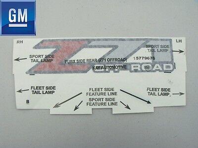 SILVERADO GMC SIERRA 99-07 Z71 OFF ROAD TRUCK PICK UP BED DECAL STICKER BED SIDE