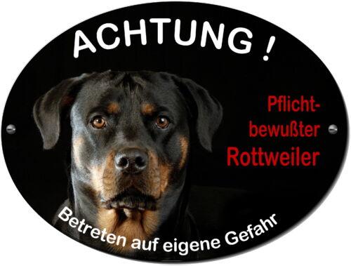 Rottweiler-Hund-Alu-Schild-20 x 15 cm-3 mm dick od. Folie-Warnschild-Hundeschild