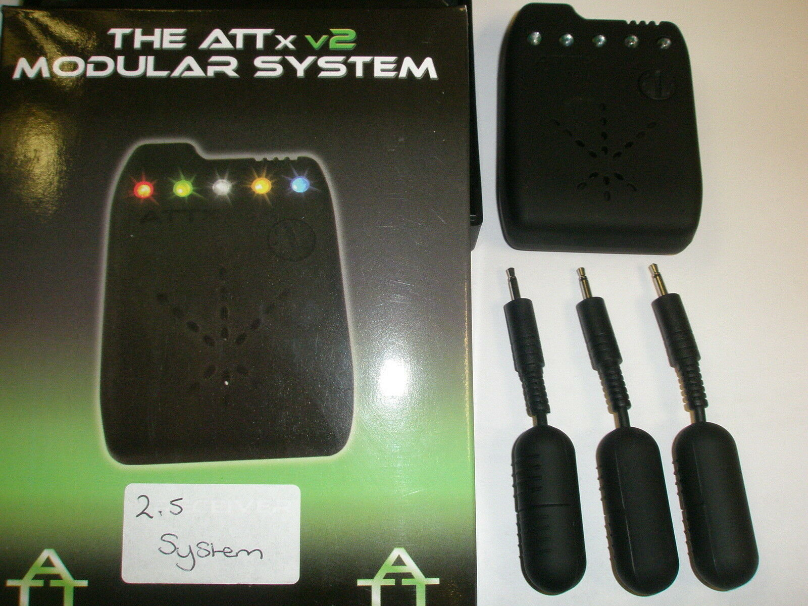 Sistema Trasmissione ATTx V2 2.5 mm tutti i LED Blu Pesca Carpa Ricevitore