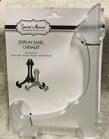 Display Art Plate Easel Clear Frosted Plastic 10 Inch Brand