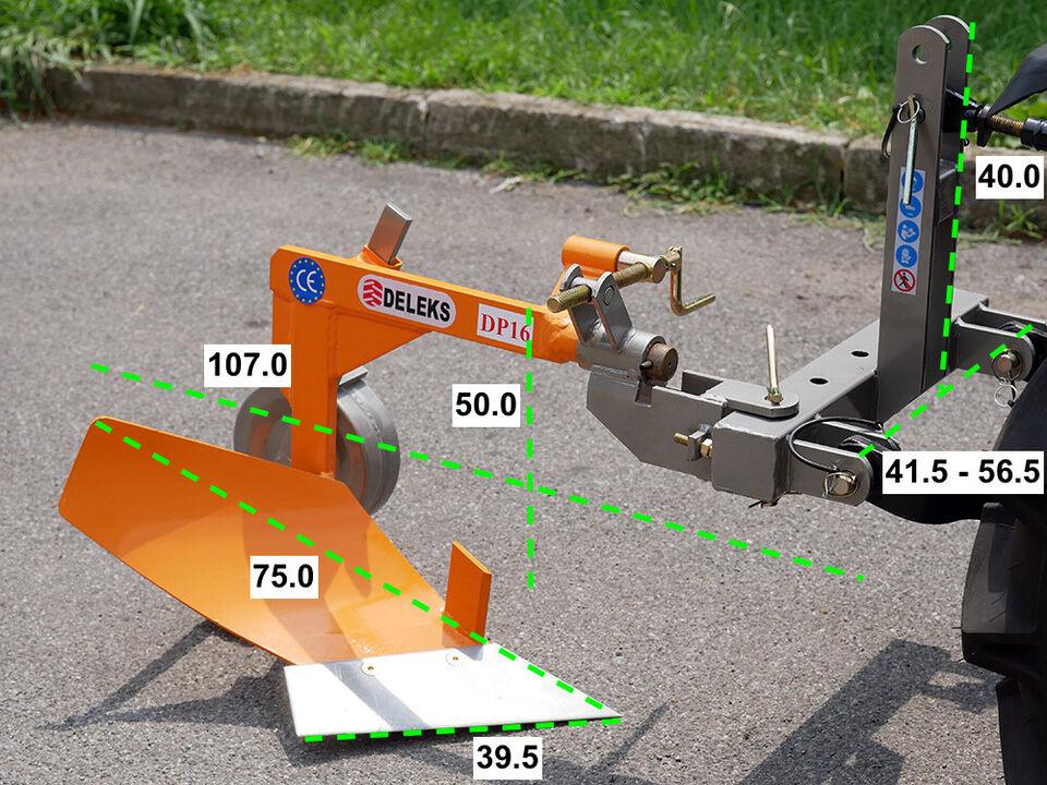 DP-16 Enkelplov til kompakt traktor med 14-30hk