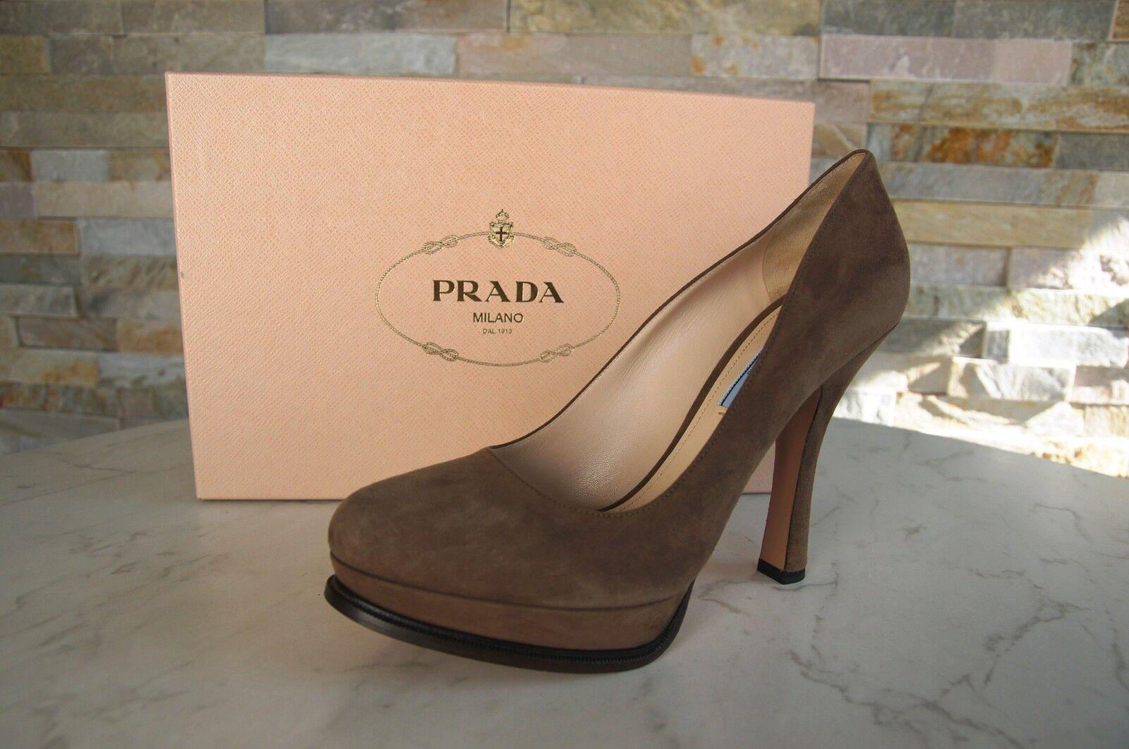 Luxus Prada Schuhe Gr 39,5 39,5 Gr Pumps Plateau Schuhes Schuhe Prada scarpe 8e5af8