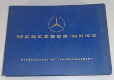 Teilekatalog Mercedes Benz Ponton W121 Diesel 190D Stand 07/1958