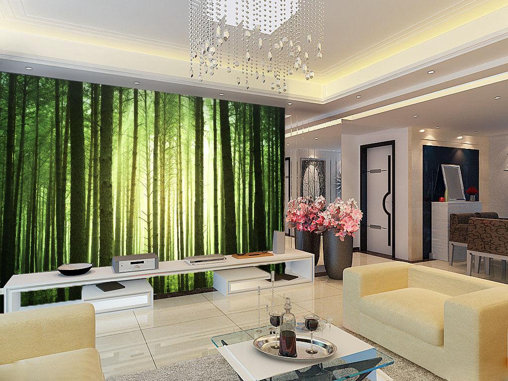 3D 3D 3D Verde Bambù 1 Parete Murale Foto Carta da parati immagine sfondo muro stampa 403d6b