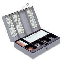 Sparco Combination Lock Cash Box,steel,11-1/2x7-1/2x3-1/8,gray 15508 on sale