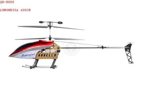 Hubschrauber großartig dreidime Ferngesteuertes 3CH mit Gyro/Ich leuchtet/R Farbe Rot QS-8005