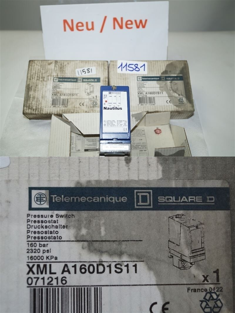 Telemecanique Nautilus Xmla160d1s11 Pressure Switch Press Button Xml A160d1s11