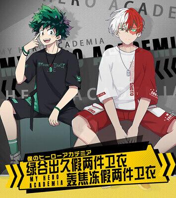 Boku no My Hero Academia Shoto Todoroki Cosplay Casual Zip T-shirt Hoodie Shirt