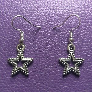 Bling-Star-Themed-Drop-Dangle-Style-Tibetan-Silver-Earrings-Gift-Idea