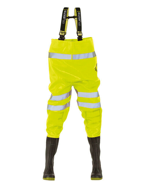Ollyskins 2640 HiViz gituttio Safety PVC chest WADERS 4247 impermeabili