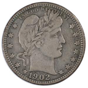 1902-O Barber Quarter Very Fine Condition