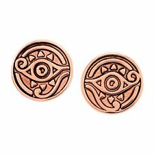 Chrysalis Charmed 14K Rose Gold-Flashed Brass Eye of Horus Stud Earrings