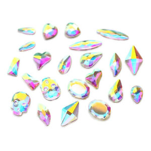30pcs-Flatbacks-No-Hotfix-Rhinestones-CRYSTAL-AB-034-Pick-Your-Shape-034-for-Nail-Art