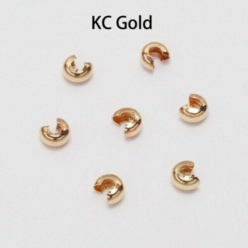 100pcs Round Covers Crimp End Beads Stopper Spacer Beads for DIY Jewelry Making