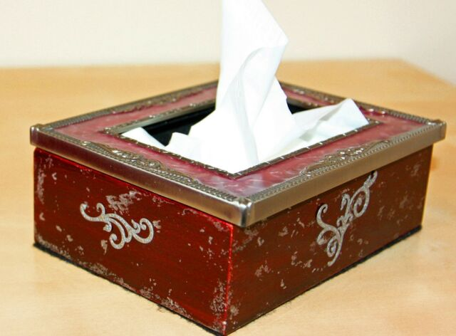 One of a kind NEW Wooden Tissue Box/ Holder/ Napkin Tissue/ Kleenex Dispenser