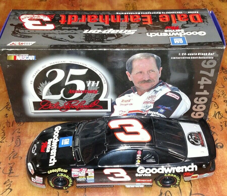 NASCAR NASCAR NASCAR ACTION DALE EARNHARDT  3 1/24 SCALE CHEVY GM 25TH ANNIVERSARY IN BOX 134d2d