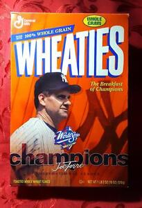 WHEATIES VINTAGE CEREAL BOX featuring JOE TORRE (1999 WORLD CHAMPIONS) *