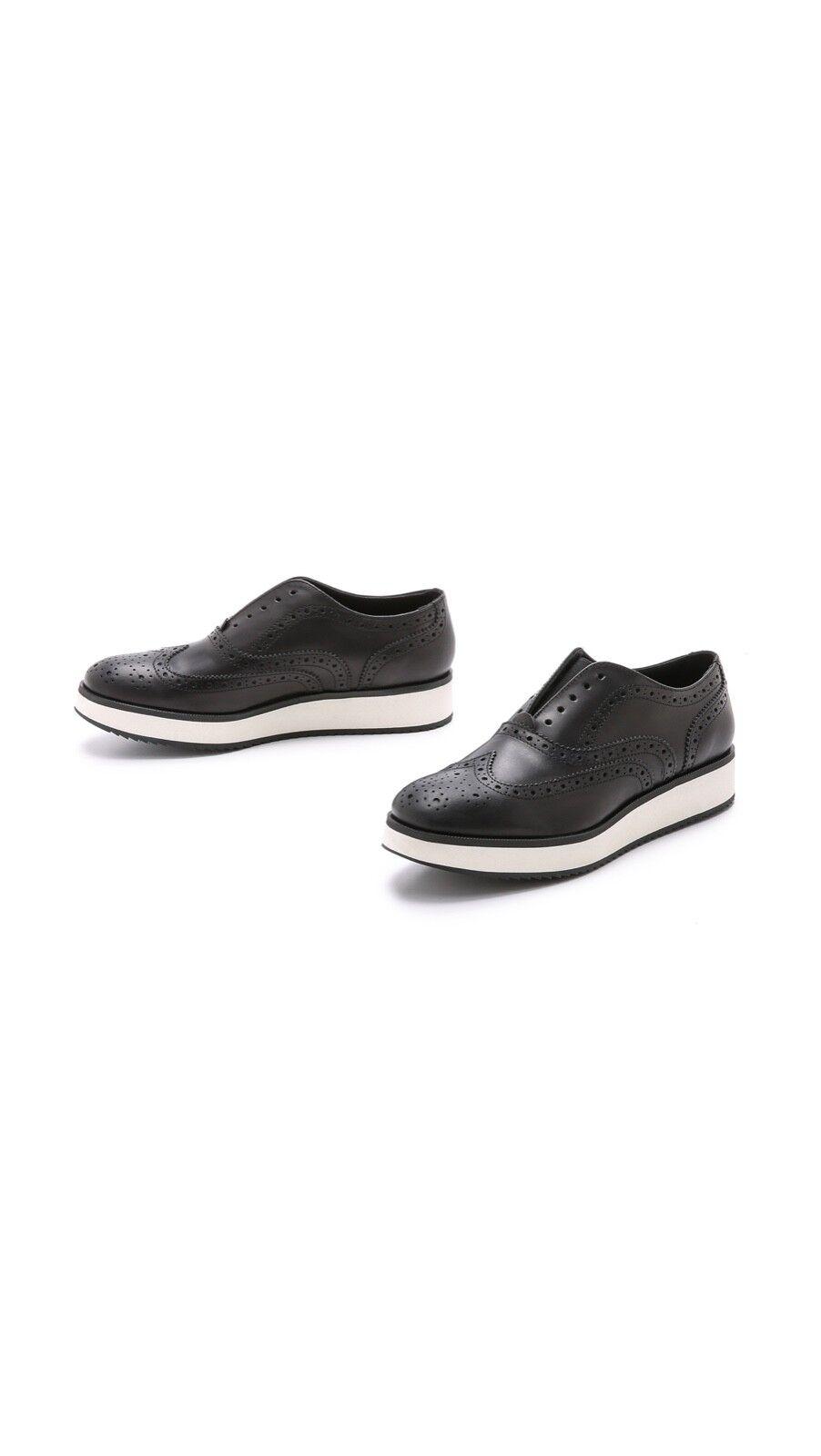 Rag & Bone Meli Leather Wingtip Oxfords 38 8 Women's shoes Saddle Black Leather