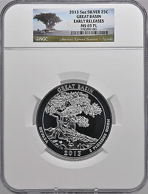 2019 5oz SILVER 25C River of No Return NGC MS 69PL Early Releases must see!