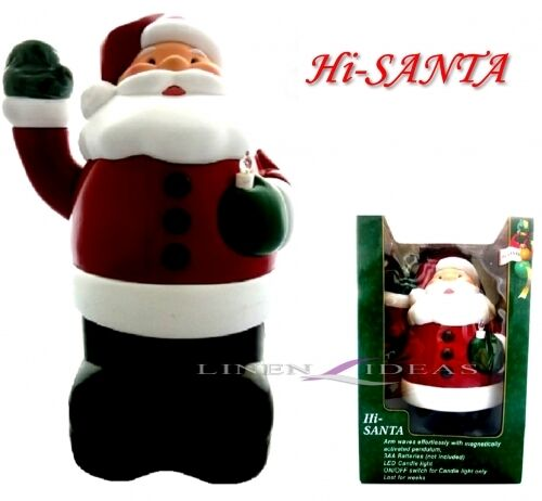 USB LED RGB Weihnachtsmann Weihnachtskerze Kerze Flackernd Weihnachtsdeko Deko